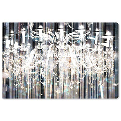 (The Oliver Gal Artist Co. Fashion and Glam Wall Art Canvas Prints 'Diamond Shower' Home Décor, 30