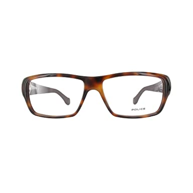 POLICE Homme lunettes de vue V1781M-09AJ-56 SHINY BROWN HAVANA Acetate d237e4716a89