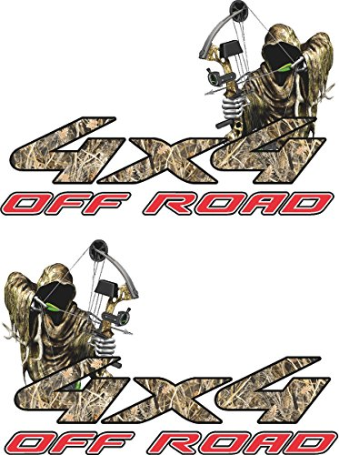 4x4 Truck Offroad Decal Cast Vinyl Reaper Bow Hunting Tallgrass Camo Ford,...