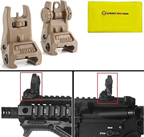 imi-defense-tfs-desert-tan-automatic-deploy-weaver-picatinny-front-rear-set-flip-back-up-ar15-ar-15-
