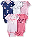 Gerber Baby-Girls Baby Girls 5-Pack Short-Sleeve Onesies Bodysuits