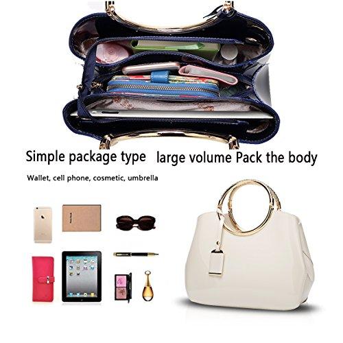del sacchetto del borsa Portafoglio donne spalla delle del del messaggero bianca borsa della signore Tisdain delle di messaggero della del sacchetto sacchetto xPwqq0BF8