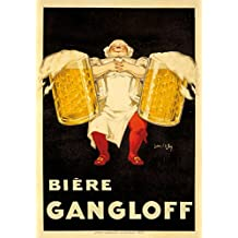 Biere Gangloff Vintage Poster (artist: Ylen, Jean D') France c. 1930 (12x18 SIGNED Print Master Art Print w/ Certificate of Authenticity - Wall Decor Travel Poster)