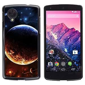 Gobierno del Sol - Metal de aluminio y de plástico duro Caja del teléfono - Negro - LG Nexus 5 D820 D821