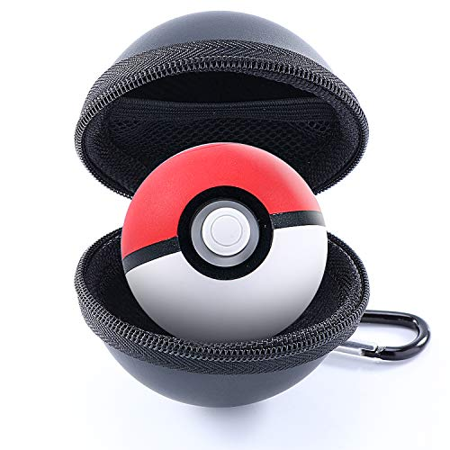 Carrying Case Compatible with Poke Ball Plus for Nintendo Switch, Hard EVA Protective Storage Case Compatible with Pokemon Lets Go Poke Ball Plus with Detachable Carabiner - Black