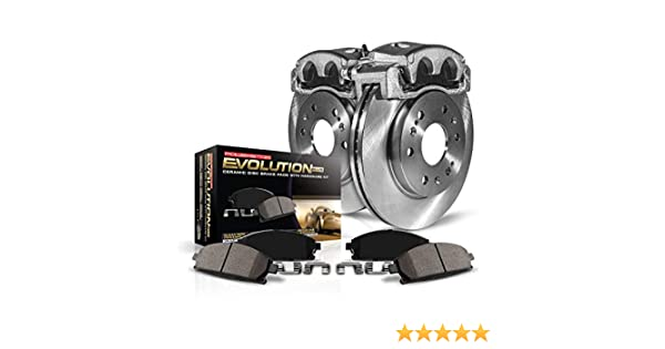 OE Rotors Power Stop KCOE662 Autospeciality Replacement Front and Rear Caliper Kit Ceramic Brake Pads Calipers