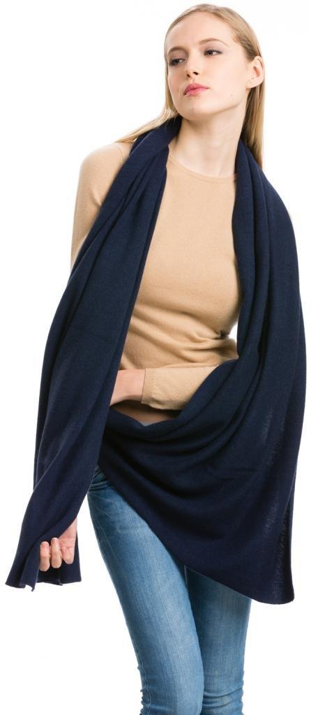 Cashmere Scarf Wrap - 100% Cashmere - by Citizen Cashmere (Navy), (43 500-03-09)