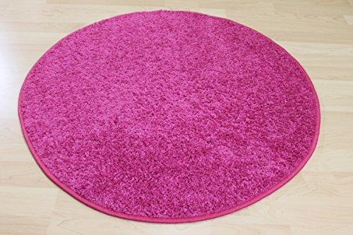 Runder Hochflor Teppich Merlin - Hochflor Shaggy Merlin rosa