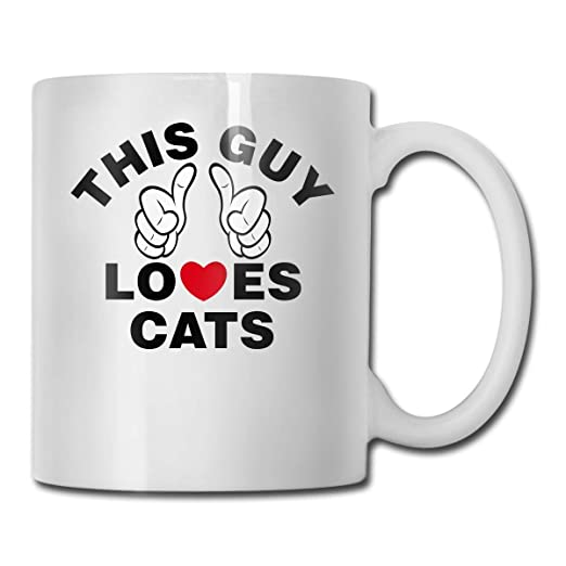 Este chico ama a los gatos Tazas de café personalizadas/Taza de té ...