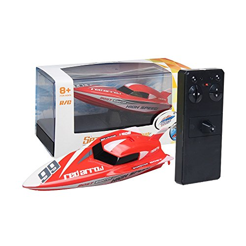 Littleice 3312M 2.4G Remote Control RC Boat 4CH Racing Waterproof Remote Outdoor Toys (Red) ()