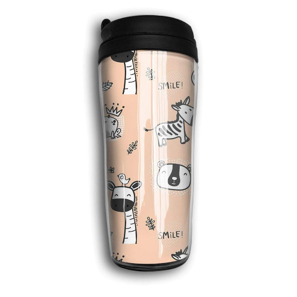 Xyou Cute Wild Animal Stainless Lined Coffee Tumbler, 12-Ounce,Vacuum Insulated Tumbler,Travel Mugs.