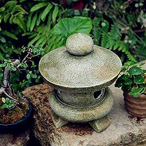 Outdoor Garden Sculpture,Stone Lantern Decorative Statue,Indoor Outdoor Statue Decor,Antique Japanese Lawn Lamp,Yard Art…