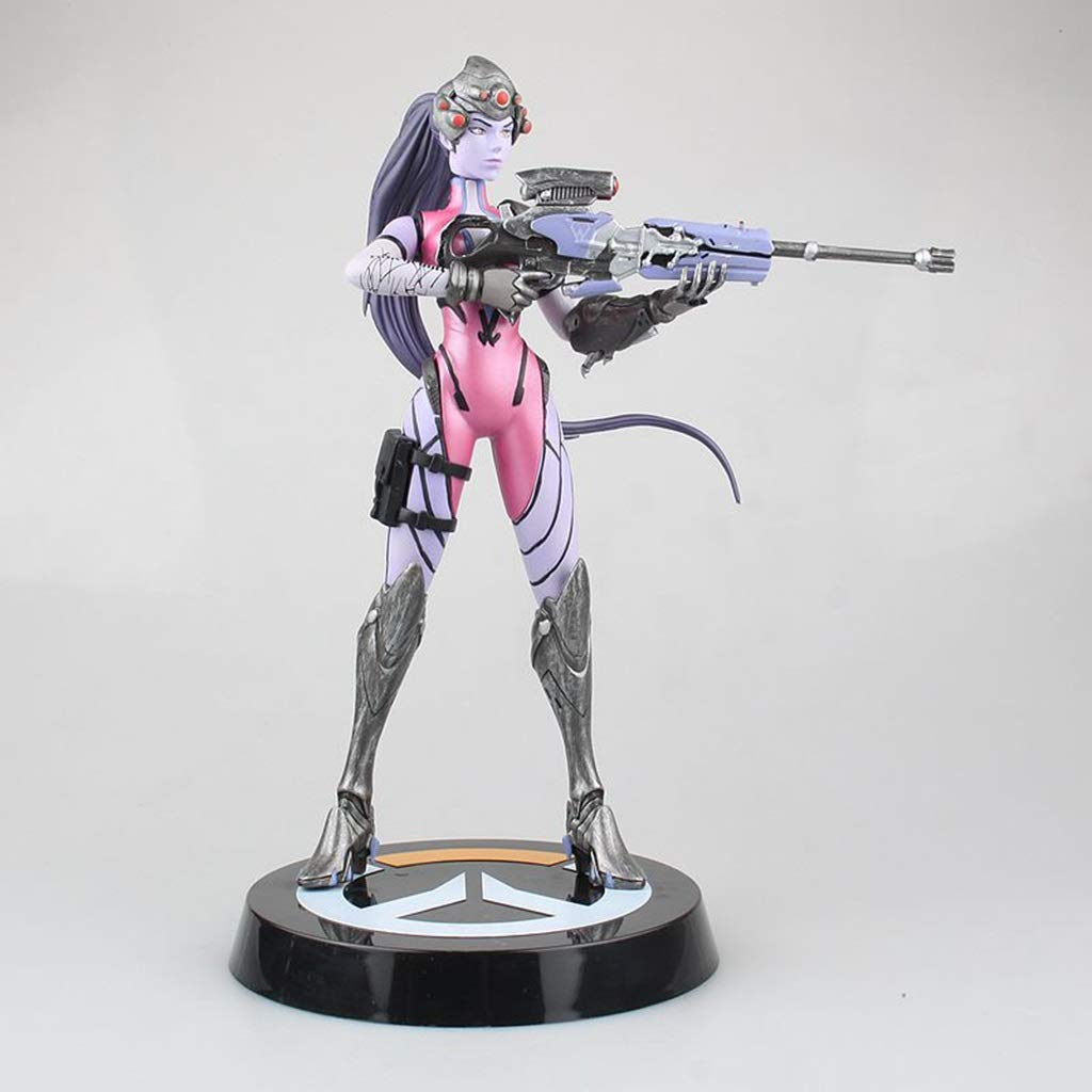 CQOZ Anime Game Character Black Widow Black Lily Emily Lakwa Model Statue Height 25cm Character statue
