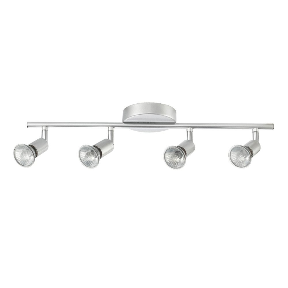 Globe Electric Payton 4-Light Adjustable Track Lighting Kit, Matte Silver Finish, 58932 by Globe Electric (Image #4)
