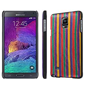 NakedShield Samsung Galaxy Note 4 (TriColor Fabric) SLIM Art Phone Cover Case