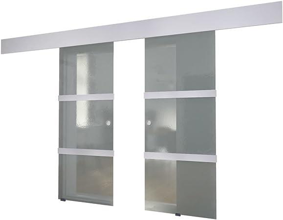 vidaXL Glass Sliding Door