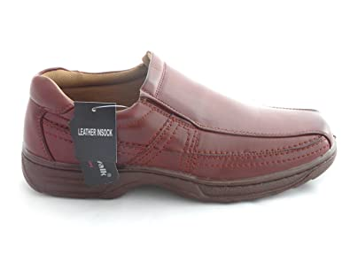 Cushion Walk Men's Leather-Lined Lightweight Formal Business Work Comfort Slip-on Shoes 7-11 Wide Fi