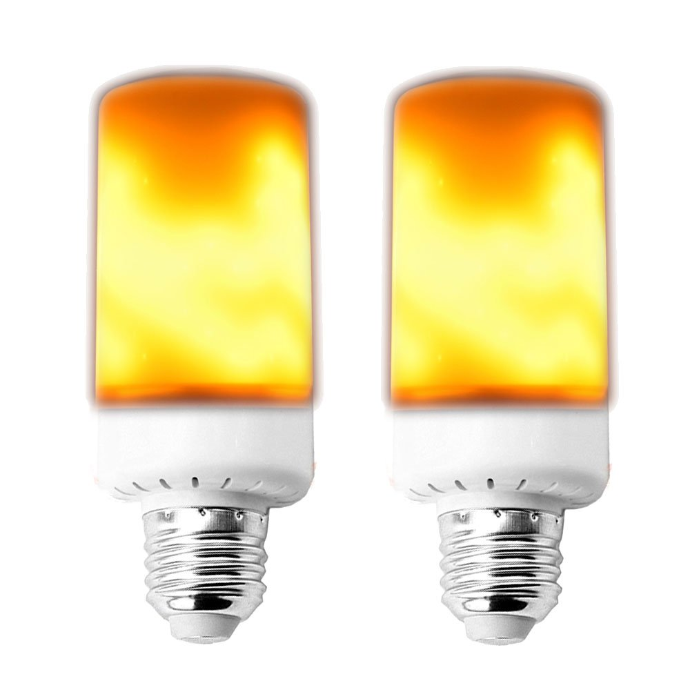 Klarlight Flame Fire Effect LED Bulb 3 Modes Retro Flameless Light Bulbs Medium Screw Base E26 Household Flame Flickering Decorative Atmosphere Light for Bar Hotel Nightclubs Outdoor Garden Lighting