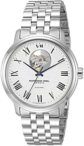 Raymond Weil Men's 'Maestro' Swiss Automatic Stainless Steel Casual Watch, Color:Silver-Toned (Model: 2227-ST-00659)