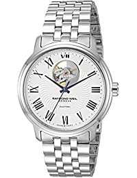 Men's 'Maestro' Swiss Automatic Stainless Steel Casual Watch, Color:Silver-Toned (Model: 2227-ST-00659)