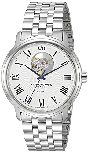 Raymond-Weil-Mens-Maestro-Swiss-Automatic-Stainless-Steel-Casual-Watch-ColorSilver-Toned-Model-2227-ST-00659