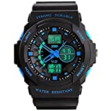 Fanmis Multi Function Military S-Shock Sports Watches Led Light Analog Digital Waterproof Alarm Watch