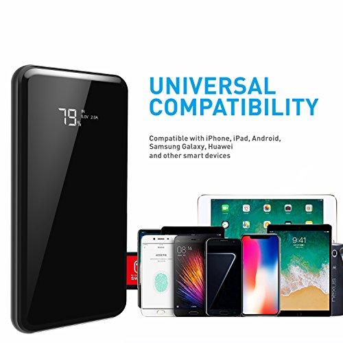 9a60426aa973f4 Todamay Power Bank 15000mAh Portable Charger Mirror Surface LCD ...