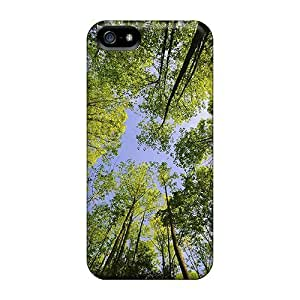 Flexible Tpu Back Case Cover For Iphone 5/5s - Tree Top by ruishername