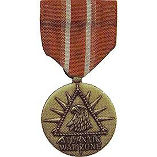 United States Military Armed Forces Full Size Medal - US Merchant Marine - Atlantic War - War Merchant Zone Marine Atlantic