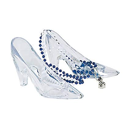 Amazon.com  Fun Express Plastic Princess Shoes (6 Piece)  Toys   Games fae43967d458