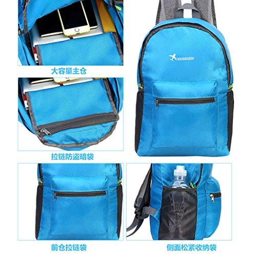 12x7 pieghevole bag impermeabile Storage Oxford Blue zaino Pink viaggio Dabixx campeggio 13x18cm hot sport escursionismo Blue 5 Tessuto 09 leggero zfTIFwq