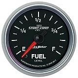 """Auto Meter 3610 Sport-Comp II 2-1/16"""" Universal Stepper Fuel Level Programmable Empty - Full Range Gauge"""