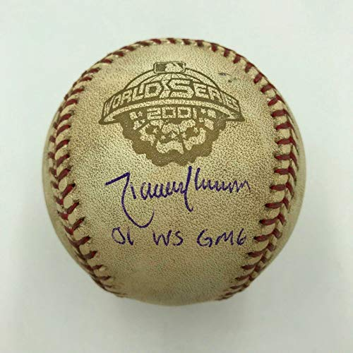 Randy Johnson Signed 2001 World Series Game 6 Game Used Baseball Steiner - Johnson Baseball Steiner Randy