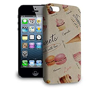 Phone Case For Apple iPhone 5 - Sweets & Desserts Snap-On Lightweight
