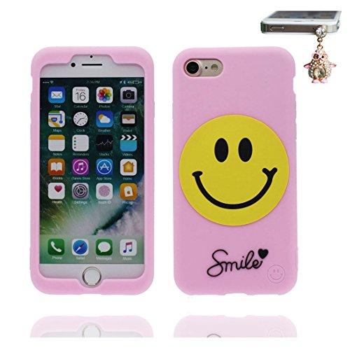 iPhone 7 Plus Coque, iPhone 7 Plus étui, [ TPU durable flexible 3D Smiley ] iPhone 7 Plus Case 5.5 pouces, anti-chocs, des empreintes digitales & Bouchon anti-poussière