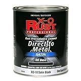 True Value XO18-QT Satin Black Premium X-O Rust Interior/Exterior Anti Rust Enamel 1 Quart
