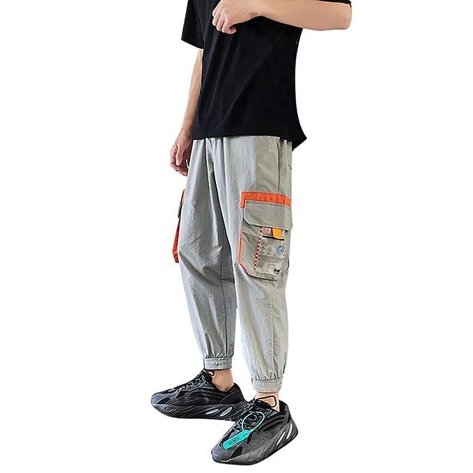 💖LEORTKS Pantalones de Hombre Casuales Chino Deporte ...
