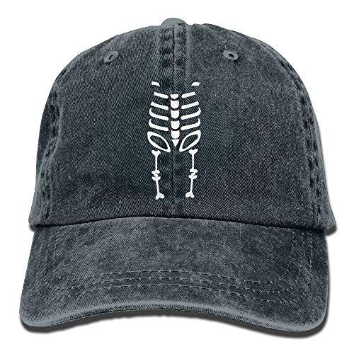 NZWJW85 2018 Adult Fashion Cotton Denim Baseball Cap Halloween Skeleton-1 Classic Dad Hat Adjustable Plain Cap
