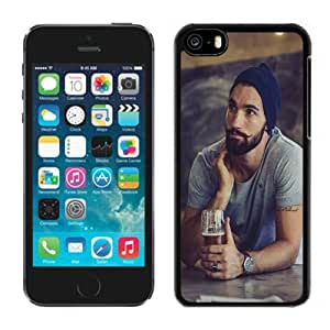 Customized Phone Case Design with Hot Bearded Guy Crazy Moustache iPhone 5C Wallpaper