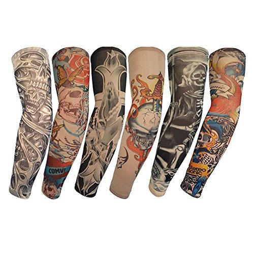 ZUOYETY 6Pcs Hohe Qualität Unisex stilvoll Temporary Fake Tattoo Anti-UV Sonnebeweis Arm Sleeves (Gruppe C)