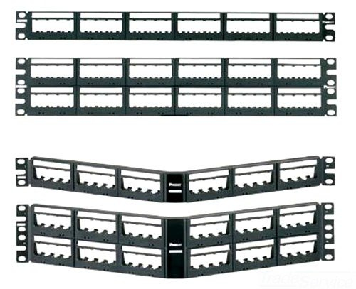 Panduit UICMPP48BLY 48-Port Flat Patch Panel, Black