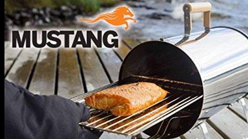 Mustang Räucherofen Räuchertonne 1100 Watt inkl. Räucherchips Erle u. Abdeckung Finnland
