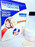 Perma Soft Denture Reliner - 1 Kit - Made in the USA - Relines 1 Individual Plate