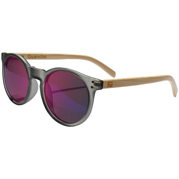 4a22e15925 Gafas De Sol Fans Con Bambú, Polarizadas, Guanche, Unisex, Froste Black:  Amazon.es: Ropa y accesorios