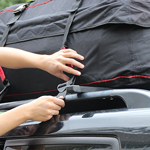 Luerme Outdoor Travel Camping Car 220L Waterproof Rainproof Dustproof Roof Top Cargo Carrier Oxford Cloth Roof Bag by Luerme (Image #4)