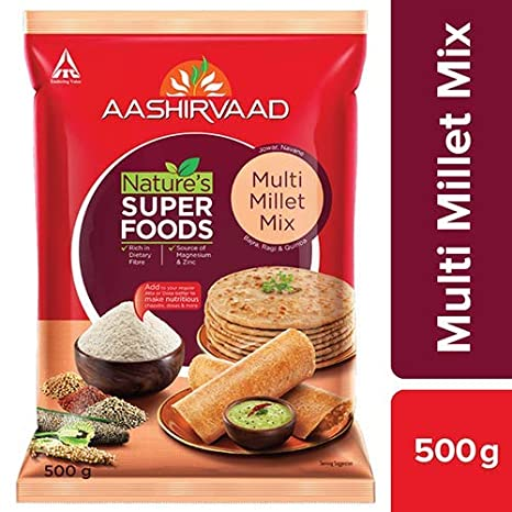 Aashirvaad Natures Super Foods Multi Millet Mix Pouch, 500 g