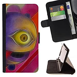 Momo Phone Case / Flip Funda de Cuero Case Cover - Psycho Ojo;;;;;;;; - HTC Desire 820