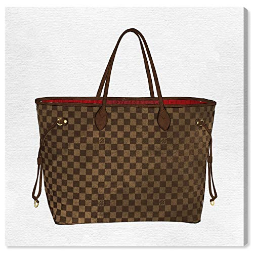 The Oliver Gal Artist Co. Fashion and Glam Wall Art Canvas Prints 'Royal Handbag Chocolate' Home Décor, 30