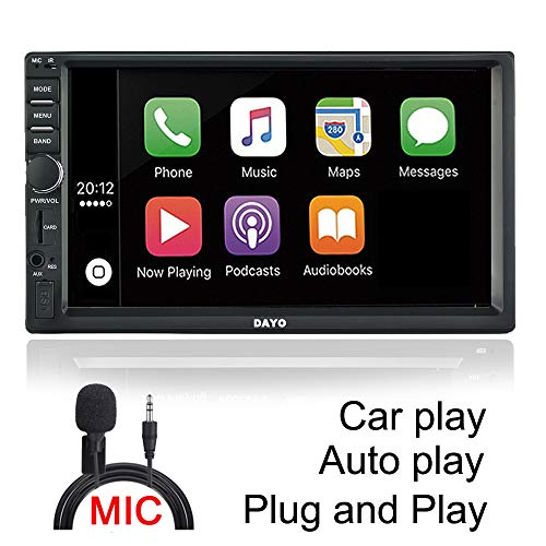 DAYO Android Auto Carplay Radio Stereo Double Din Car Stereo Bluetooth Radio SA102