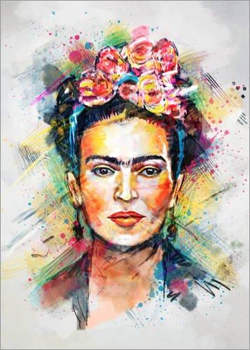 Posterlounge Leinwandbild 50 x 70 cm    Frida Kahlo von Tracie Andrews - fertiges Wandbild, Bild auf Keilrahmen, Fertigbild auf echter Leinwand, Leinwanddruck 5139fb